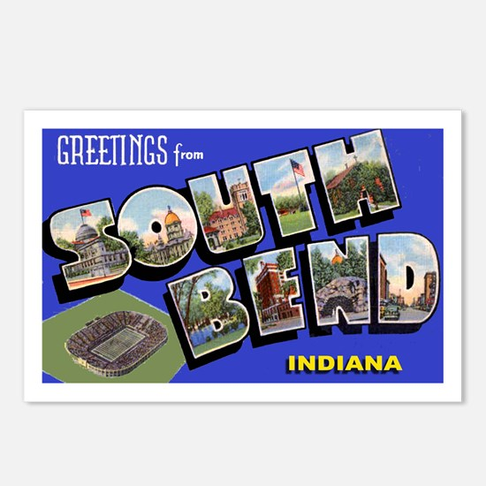 South Bend Indiana Greetings Postcards (Package of