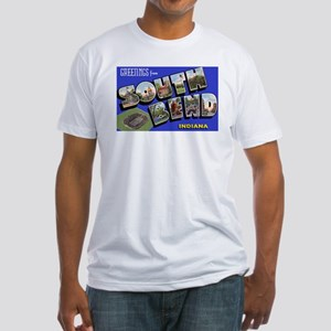 South Bend Indiana Greetings (Front) Fitted T-Shir