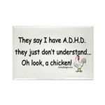 ADHD Chicken Rectangle Magnet (10 pack)