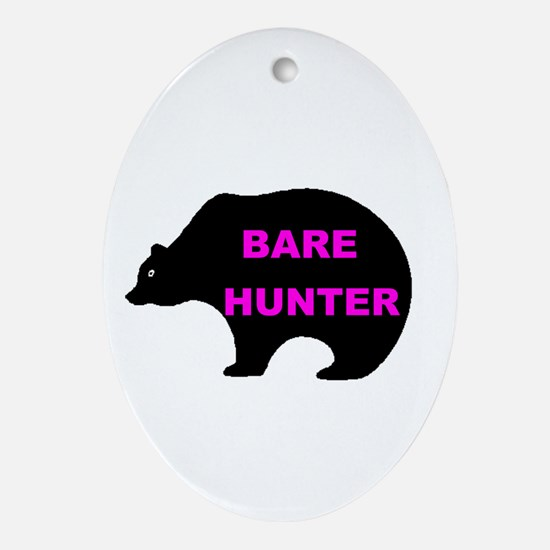 BARE HUNTER Oval Ornament