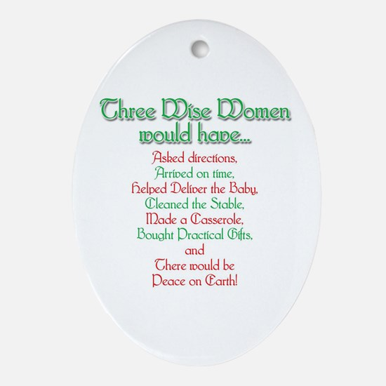 Three Wise Women Oval Ornament