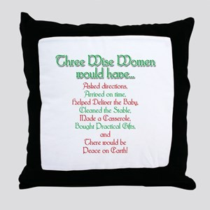 Three Wise Women Throw Pillow