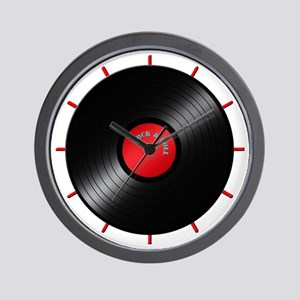 Rock and Roll Record Clock Wall Clock