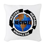 Recycle World Woven Throw Pillow