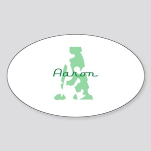 Aaron Oval Sticker