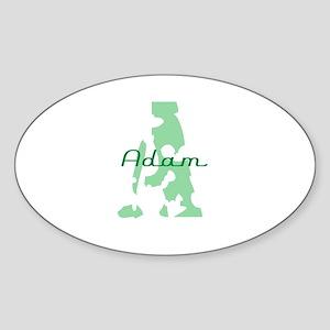 Adam Oval Sticker