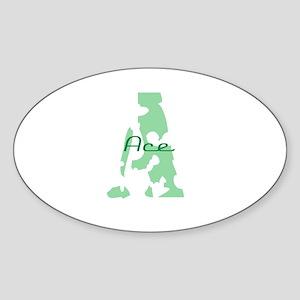 Ace Oval Sticker