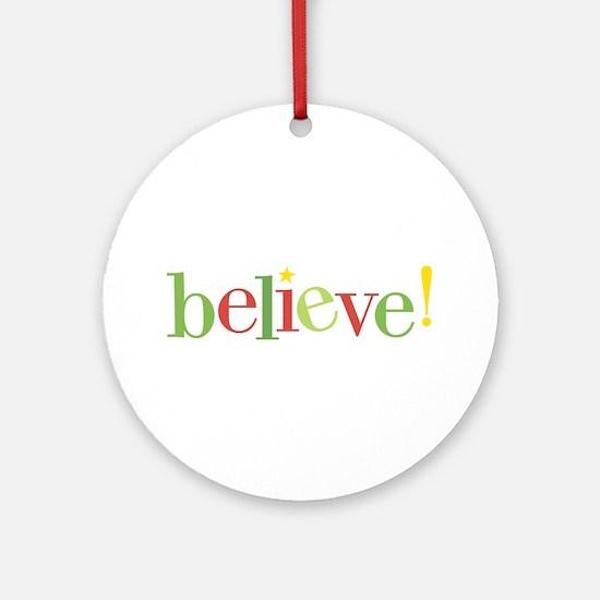believe! ornament (Round)