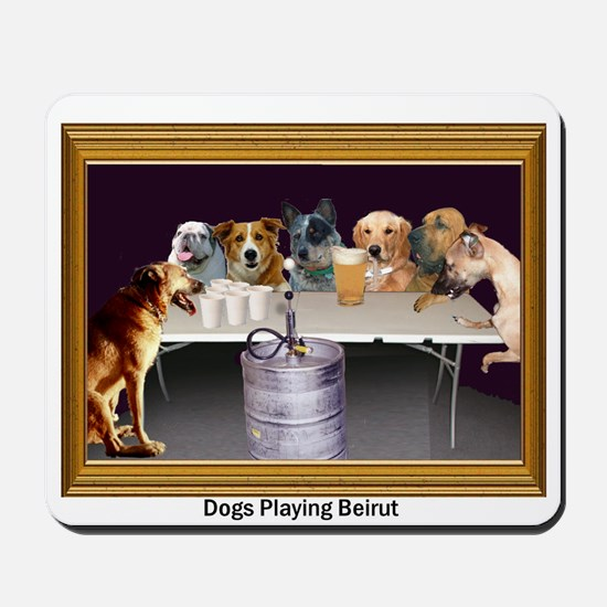 Dogs Playing Beirut Mousepad