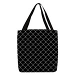 Chain Link Fence Polyester Tote Bag