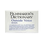 Outside Voice Rectangle Magnet (100 pack)