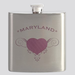 Maryland State (Heart) Gifts Flask