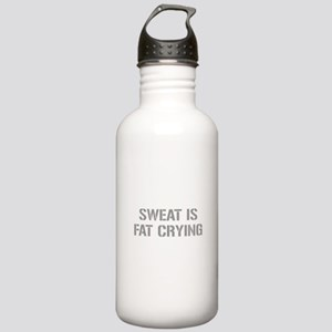 sweat-is-just-fat-crying-gun-gray Water Bottle
