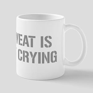 sweat-is-just-fat-crying-gun-gray Mug