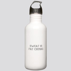 sweat-is-just-fat-crying-cap-gray Water Bottle