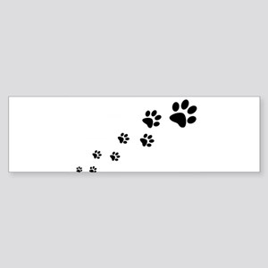 Paw Prints Bumper Sticker