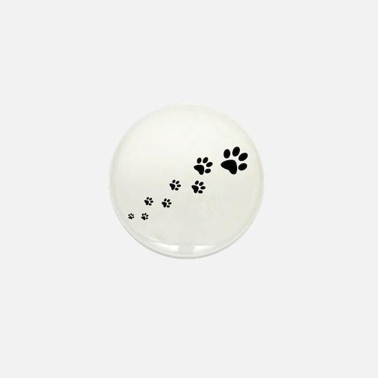 Paw Prints Mini Button