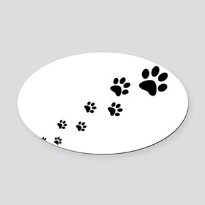 Paw Prints Oval Car Magnet