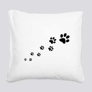 Paw Prints Square Canvas Pillow
