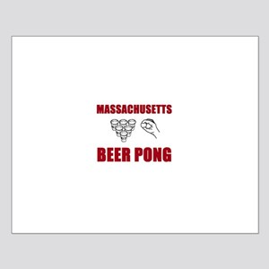 Massachusettes Beer Pong Small Poster