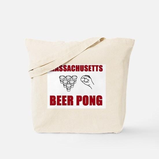 Massachusettes Beer Pong Tote Bag