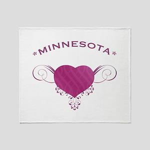 Minnesota State (Heart) Gifts Throw Blanket