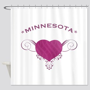 Minnesota State (Heart) Gifts Shower Curtain