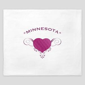 Minnesota State (Heart) Gifts King Duvet