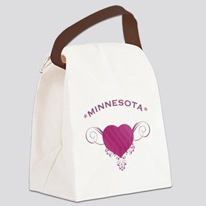 Minnesota State (Heart) Gifts Canvas Lunch Bag
