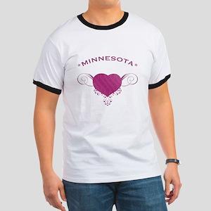 Minnesota State (Heart) Gifts Ringer T