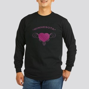 Minnesota State (Heart) Gifts Long Sleeve Dark T-S