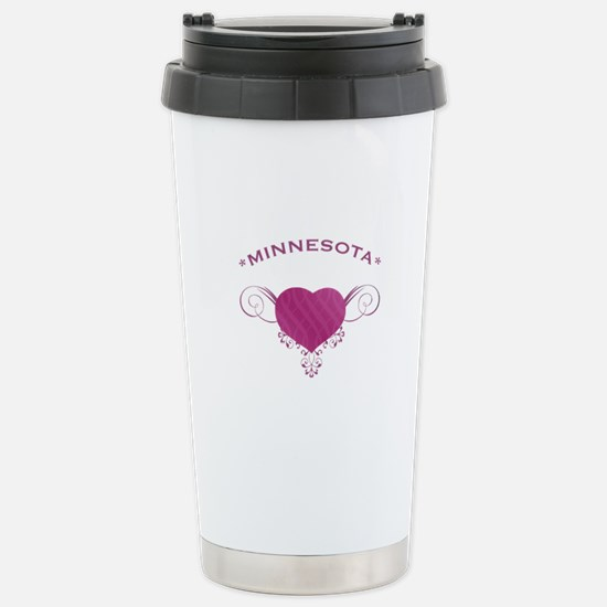 Minnesota State (Heart) Gifts Stainless Steel Trav