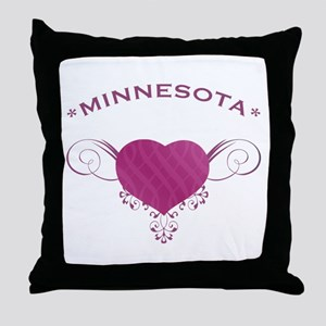 Minnesota State (Heart) Gifts Throw Pillow