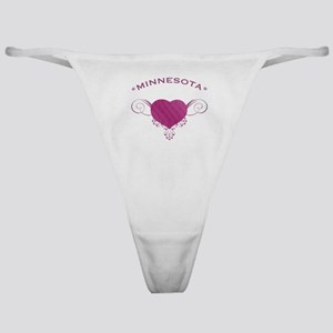 Minnesota State (Heart) Gifts Classic Thong
