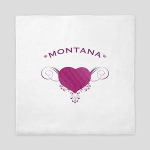 Montana State (Heart) Gifts Queen Duvet