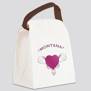 Montana State (Heart) Gifts Canvas Lunch Bag