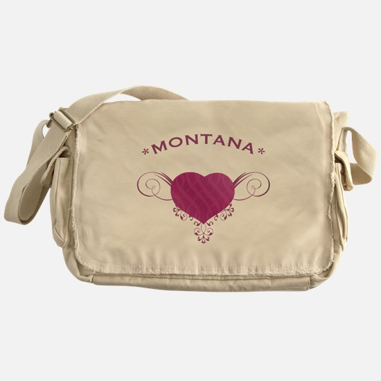 Montana State (Heart) Gifts Messenger Bag