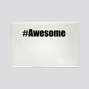 #Awesome Rectangle Magnet