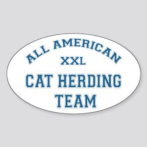 AA Cat Herding Team Oval Sticker