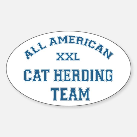 AA Cat Herding Team Oval Decal