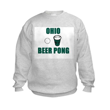 Ohio Beer Pong Kids Sweatshirt