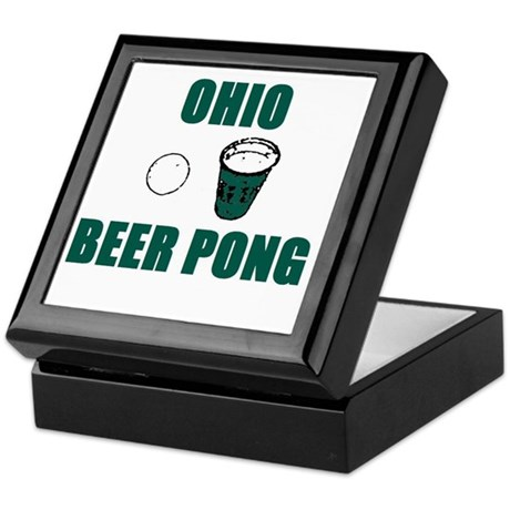 Ohio Beer Pong Keepsake Box