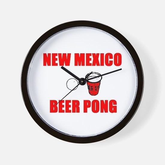 New Mexico Beer Pong Wall Clock