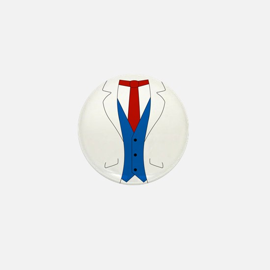 White Suit Mini Button