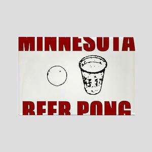 Minnesota Beer Pong Rectangle Magnet