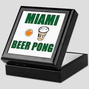 Miami Beer Pong Keepsake Box