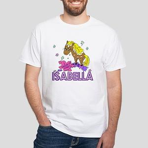 I Dream Of Ponies Isabella White T-Shirt