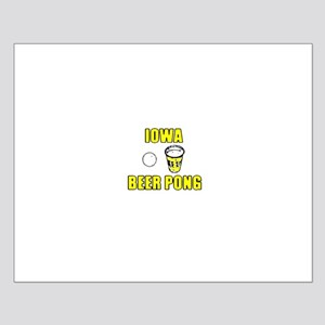 Iowa Beer Pong Small Poster