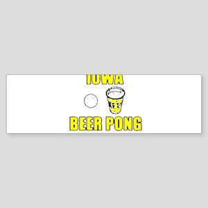 Iowa Beer Pong Bumper Sticker
