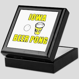 Iowa Beer Pong Keepsake Box